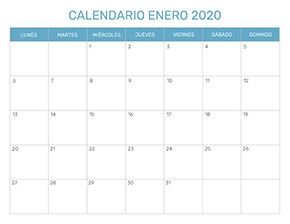 Calendario Junio Julio 2020.Calendario Mensual Para Imprimir Ano 2020