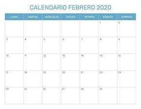 Calendario Marzo 2020 Chile.Calendario Mensual Para Imprimir Ano 2020