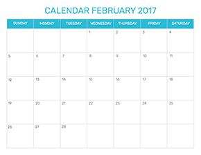 Preview of the format for the month of February 2017