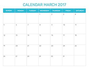 Preview of the format for the month of march 2017