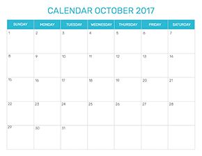 Preview of the format for the month of October 2017