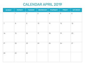 Preview of the format for the month of April 2019