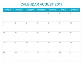Preview of the format for the month of August 2019