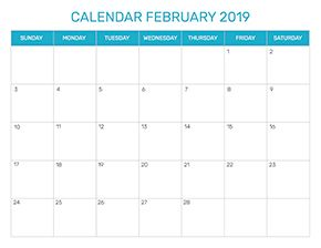 Preview of the format for the month of February 2019
