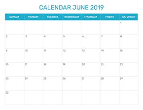 Preview of the format for the month of June 2019