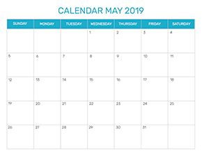 Preview of the format for the month of May 2019