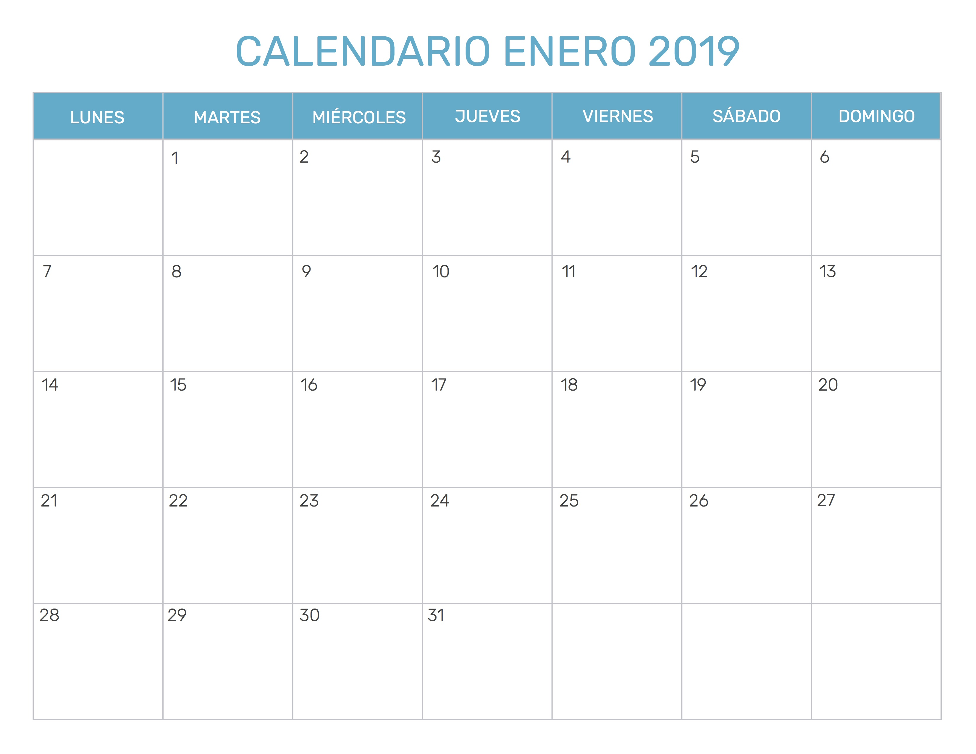 Calendario 2019 Mes A Mes.Index Of Print Calendario Mensual 1 2019