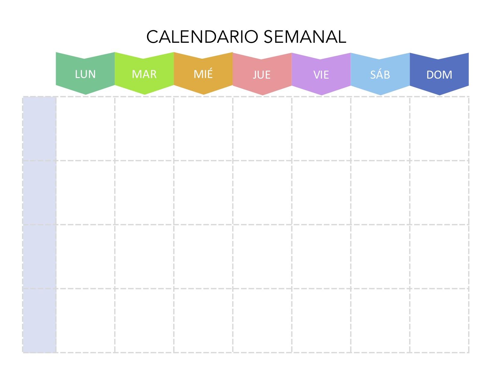 Calendario Semanal Para Imprimir Ano 2020