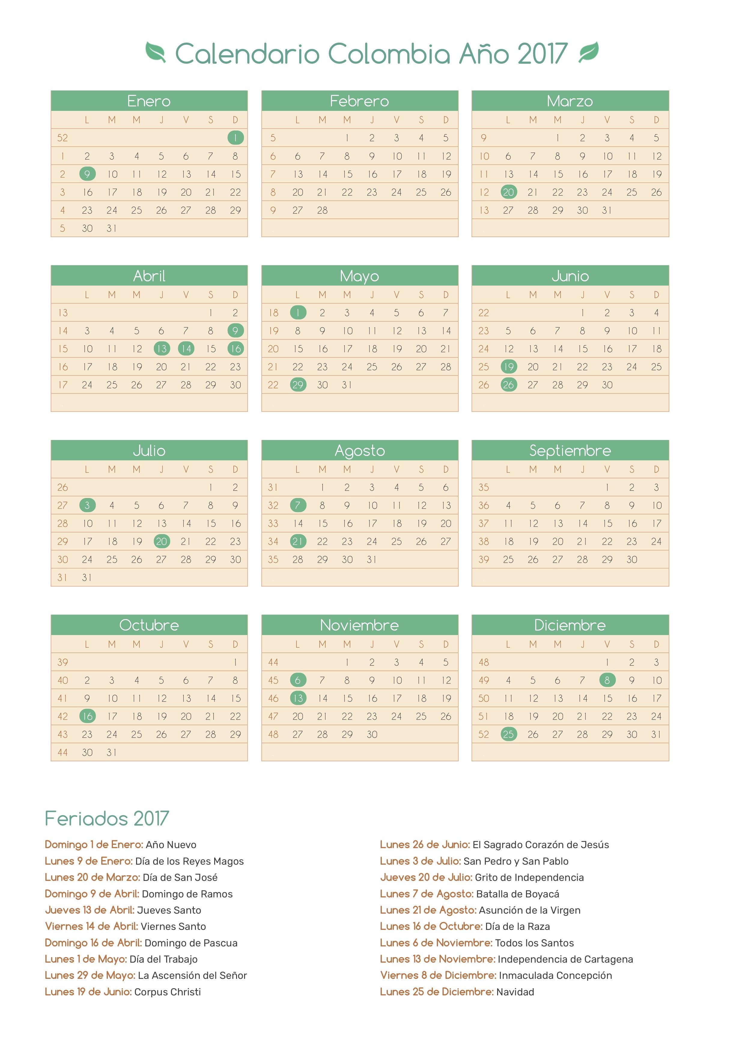 Calendario 2017 Colombia.Index Of Print Calendario Bosque 2017