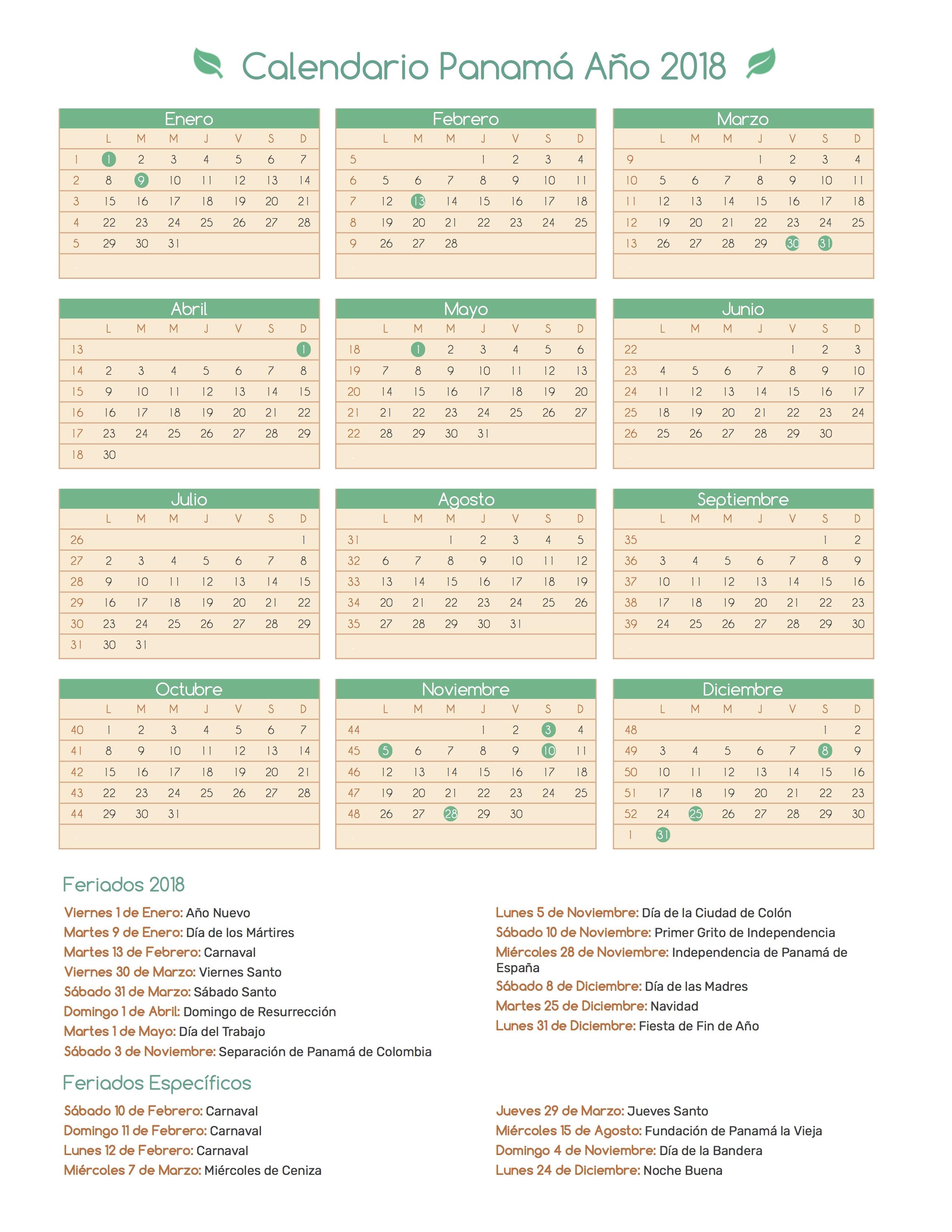 Calendario Panama 2018.Index Of Print Calendario Bosque 2018