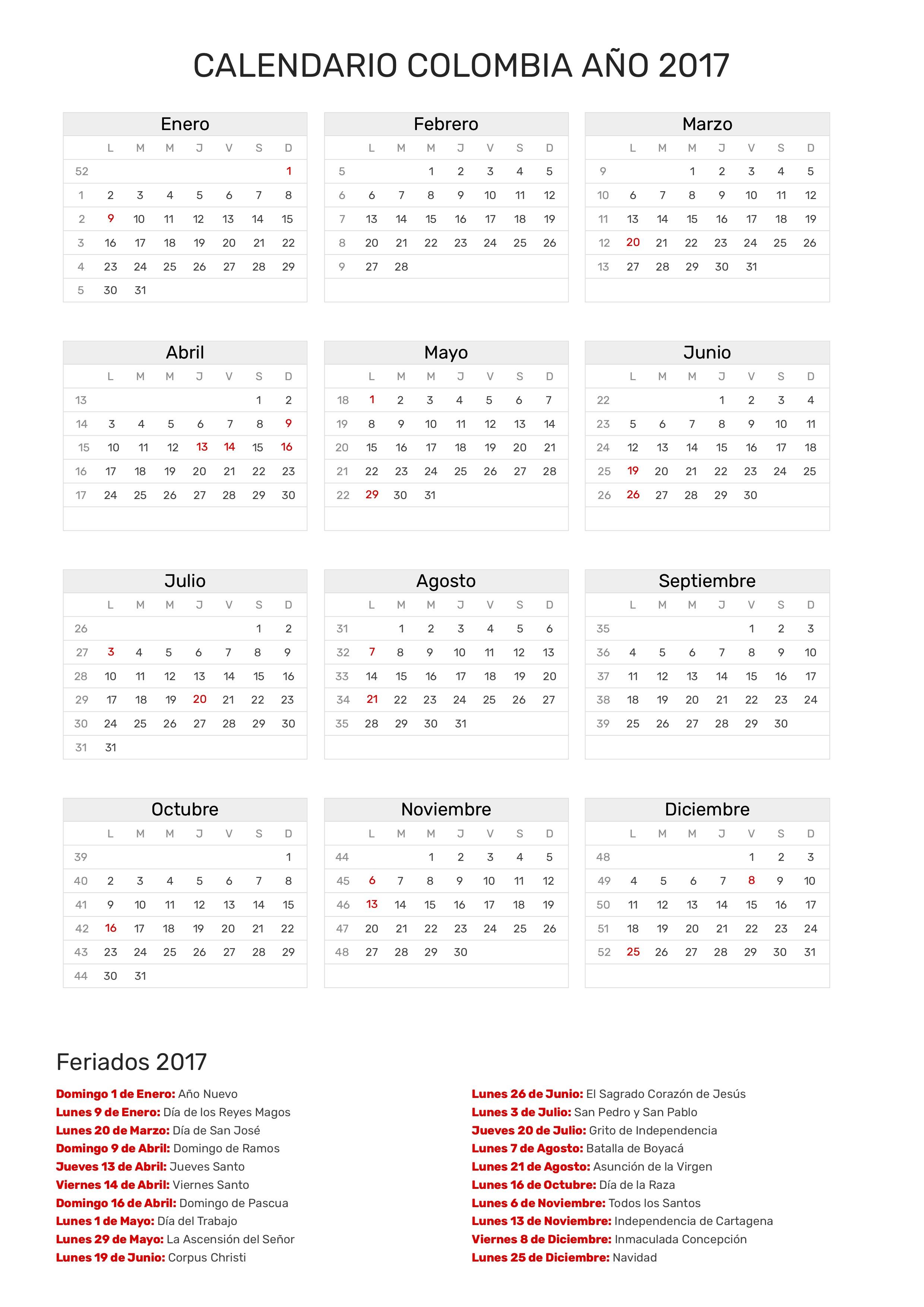 Calendario 2017 Colombia.Index Of Print Calendario Clasico 2017