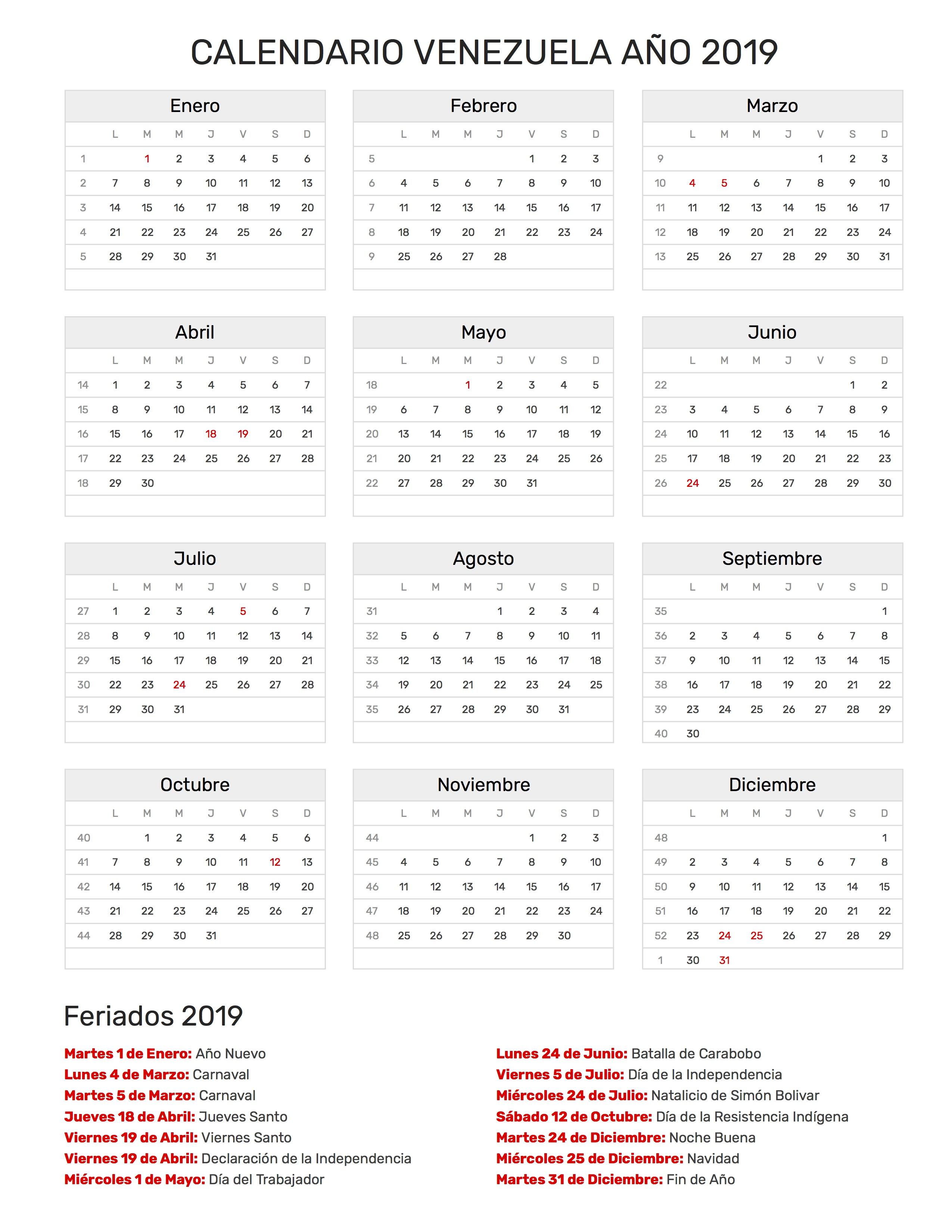 Calendario Imbottigliamento 2020.Calendario Del 2020 Venezuela