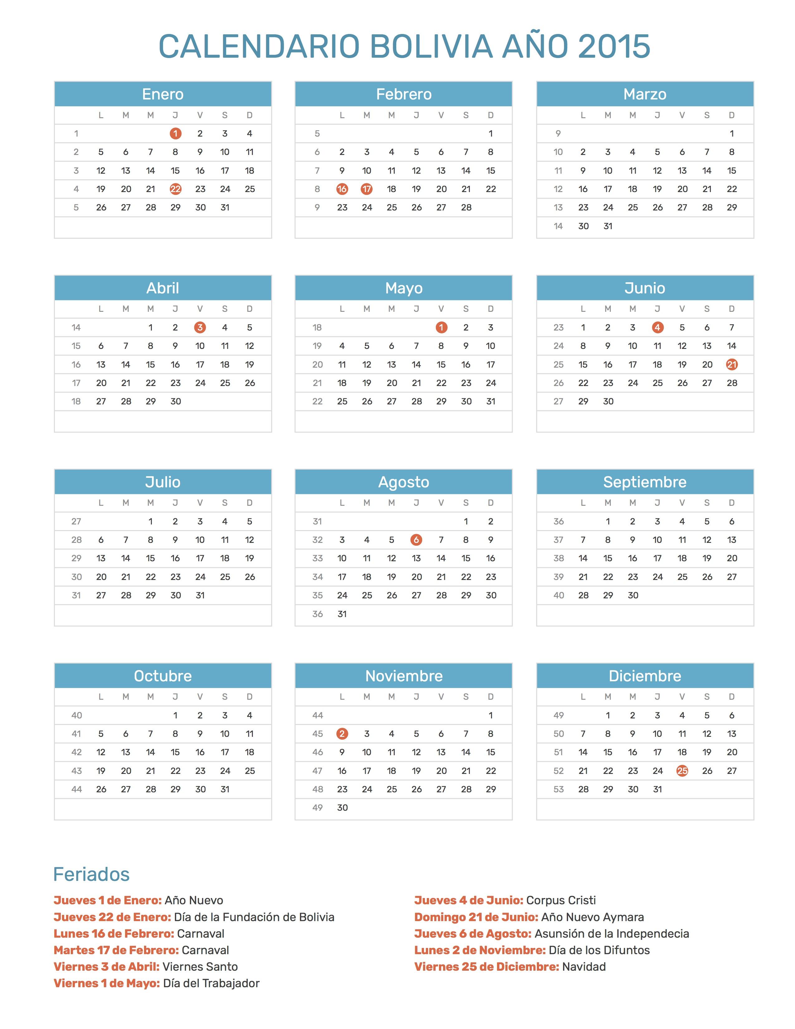 amado calendario 2018 com todos os feriados ls61