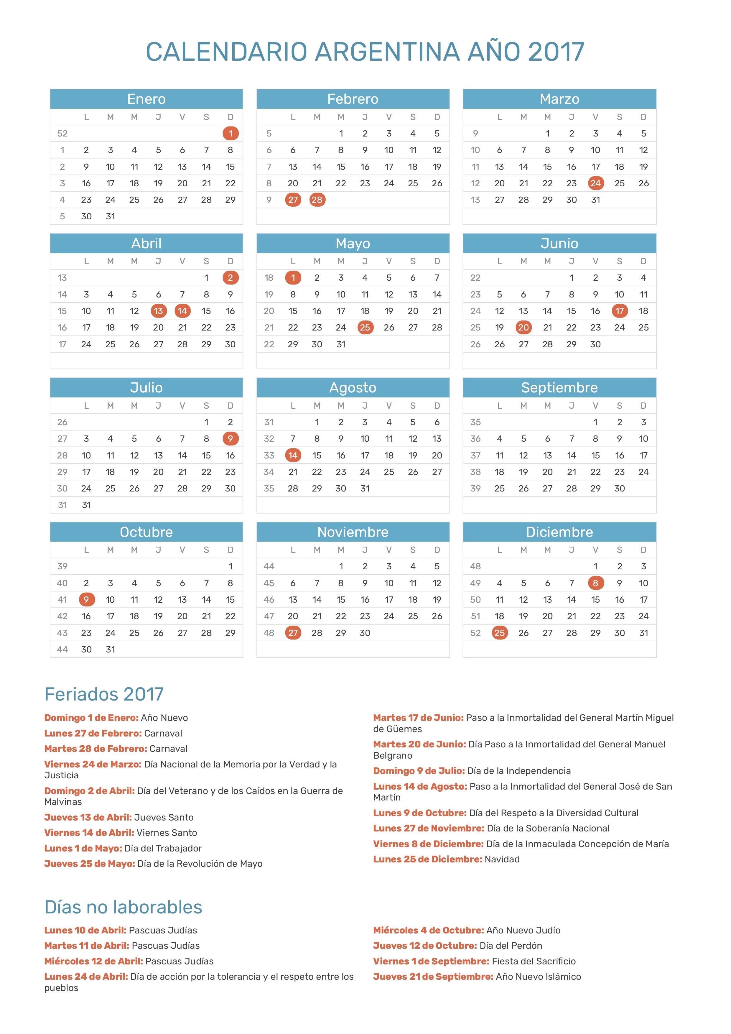 Index Of Print Calendario Normal 2017