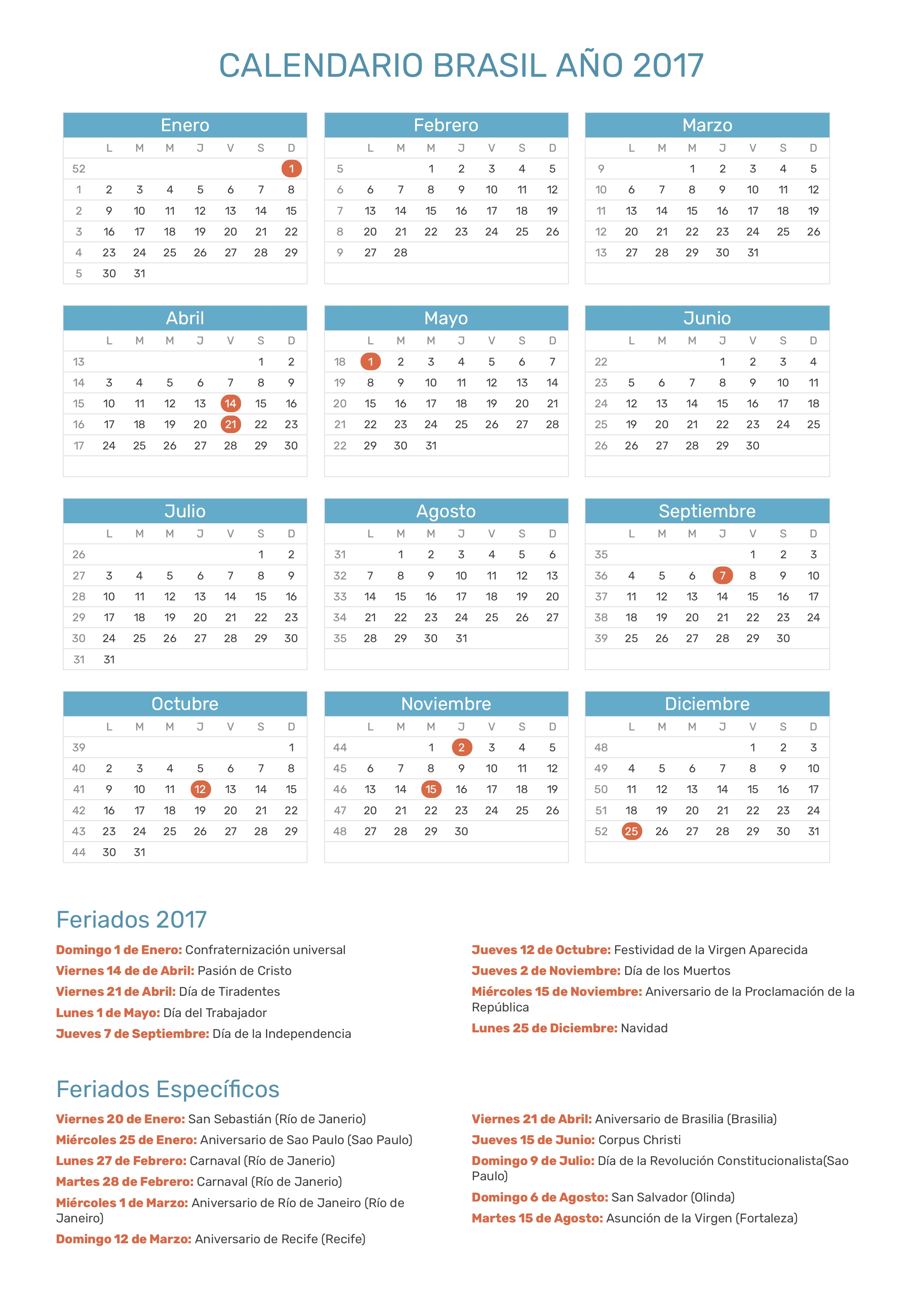 Calendario 2017 Brasil.Index Of Print Calendario Normal 2017