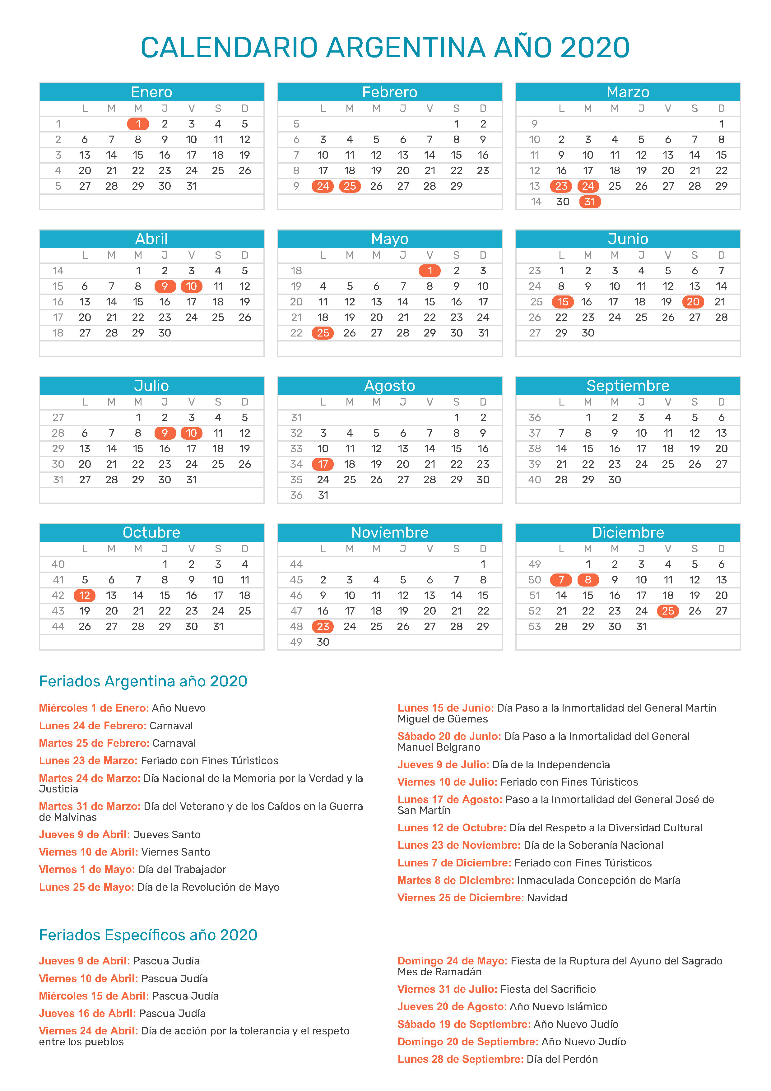 Calendario 2020trackidsp 006.Calendario De Argentina Ano 2020 Feriados