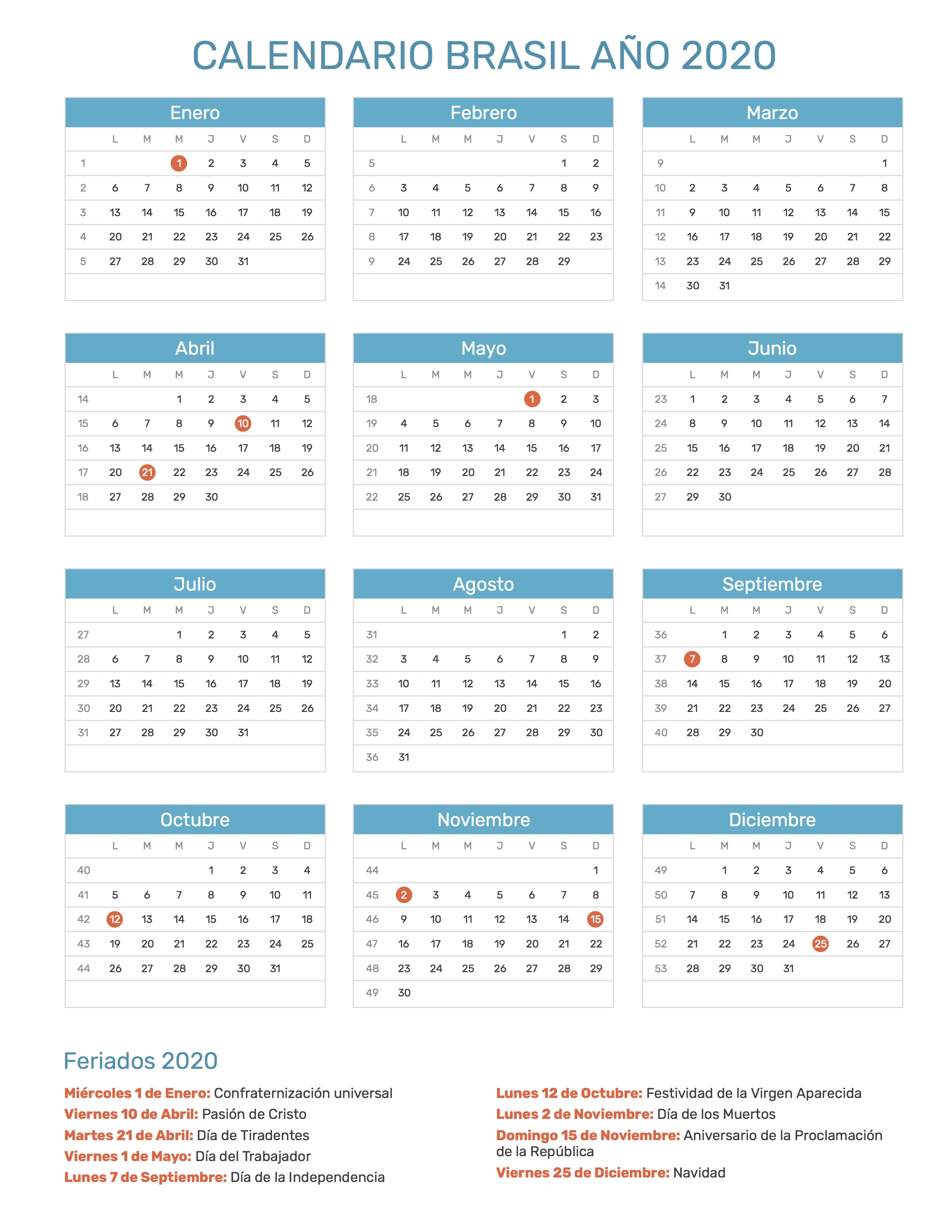Calendario Brasileiro 2020 Com Feriados.Index Of Print Calendario Normal 2020