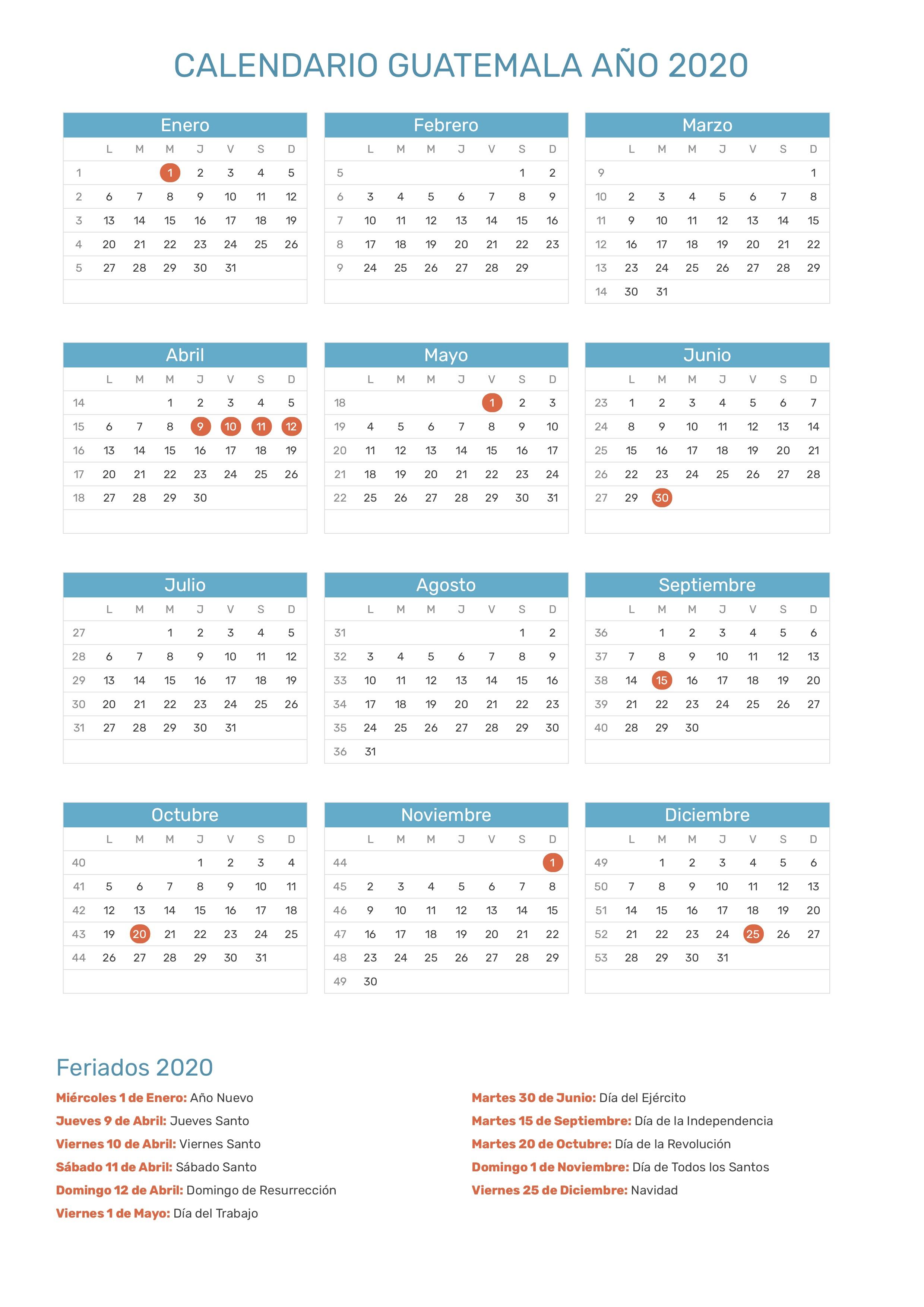 Calendario 2020 Excel Mensual.Calendario Mensual 2020 Excel