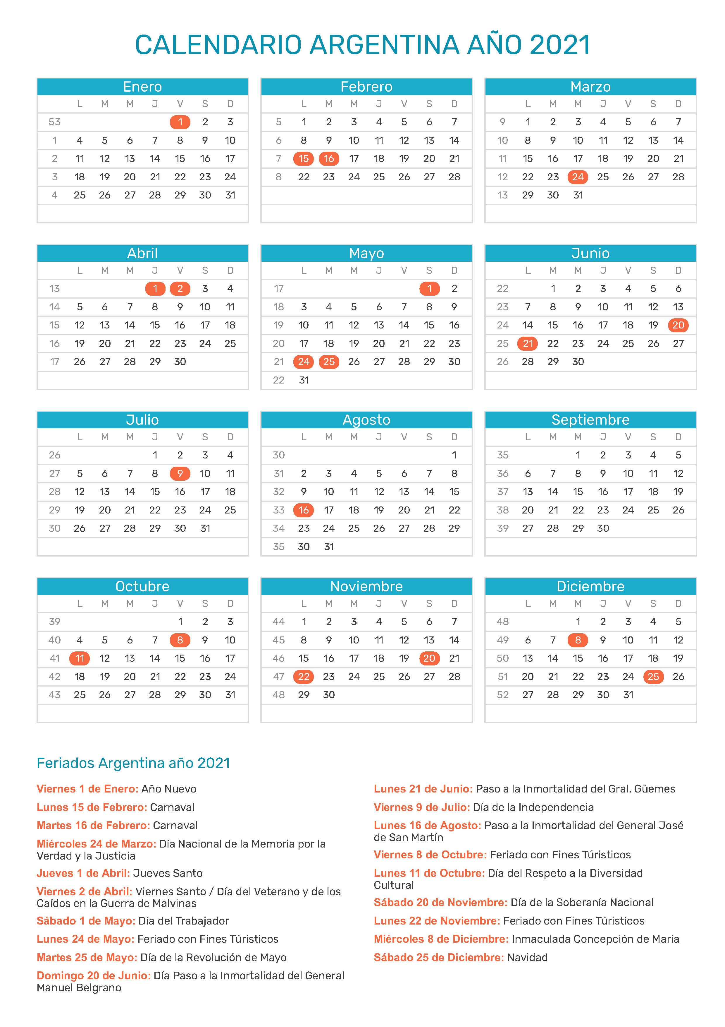 calendario semana santa 2021