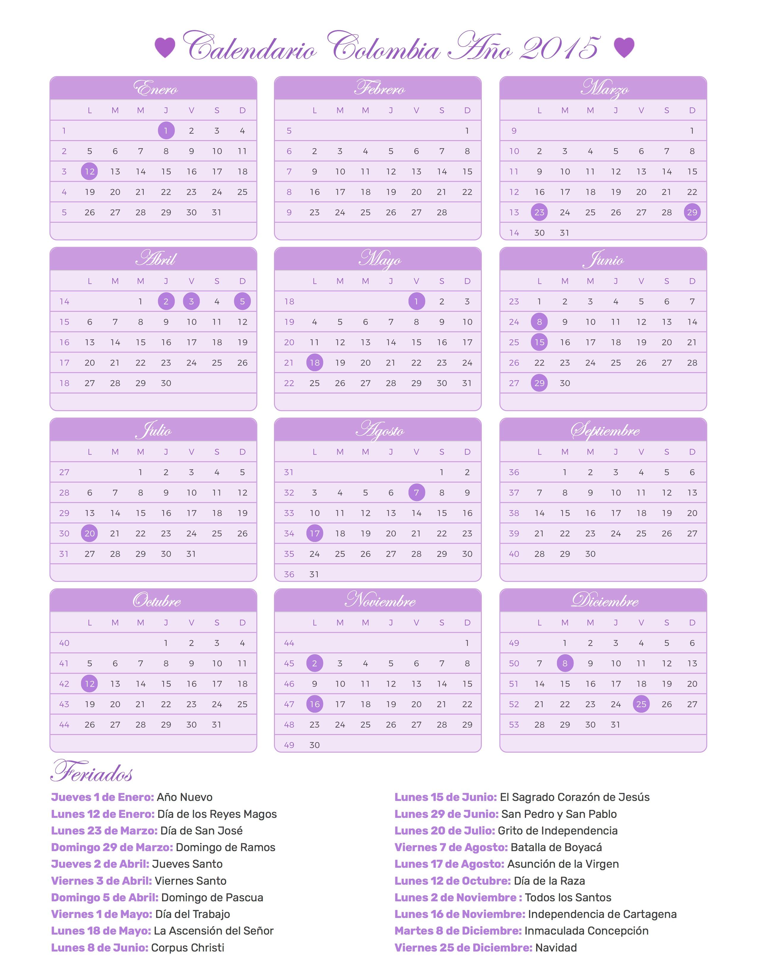 d51e93da5 calendario de colombia 2015 - Cablo.commongroundsapex.co
