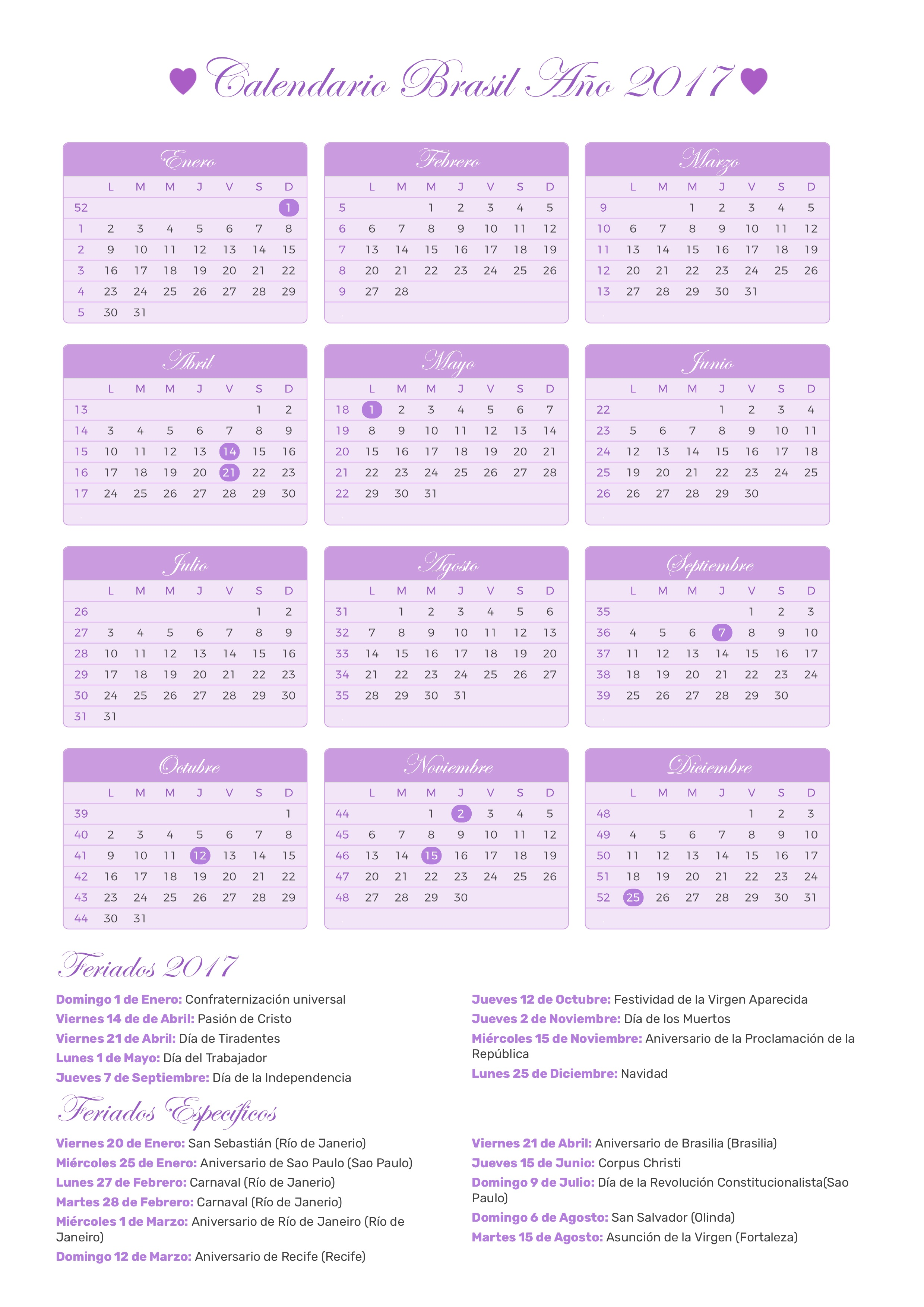 Calendario 2017 Brasil.Index Of Print Calendario Princesa 2017