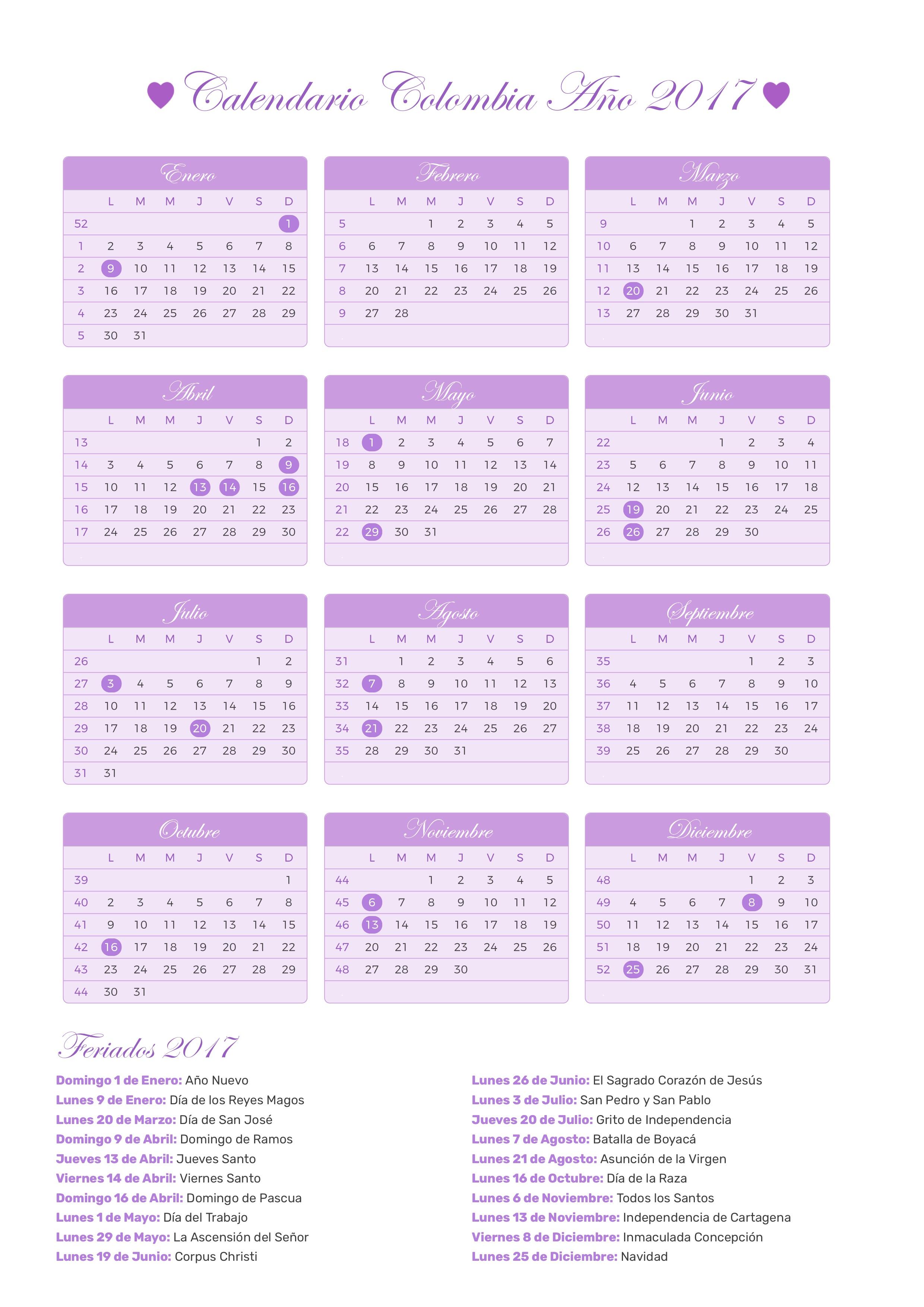Calendario 2017 Colombia.Index Of Print Calendario Princesa 2017
