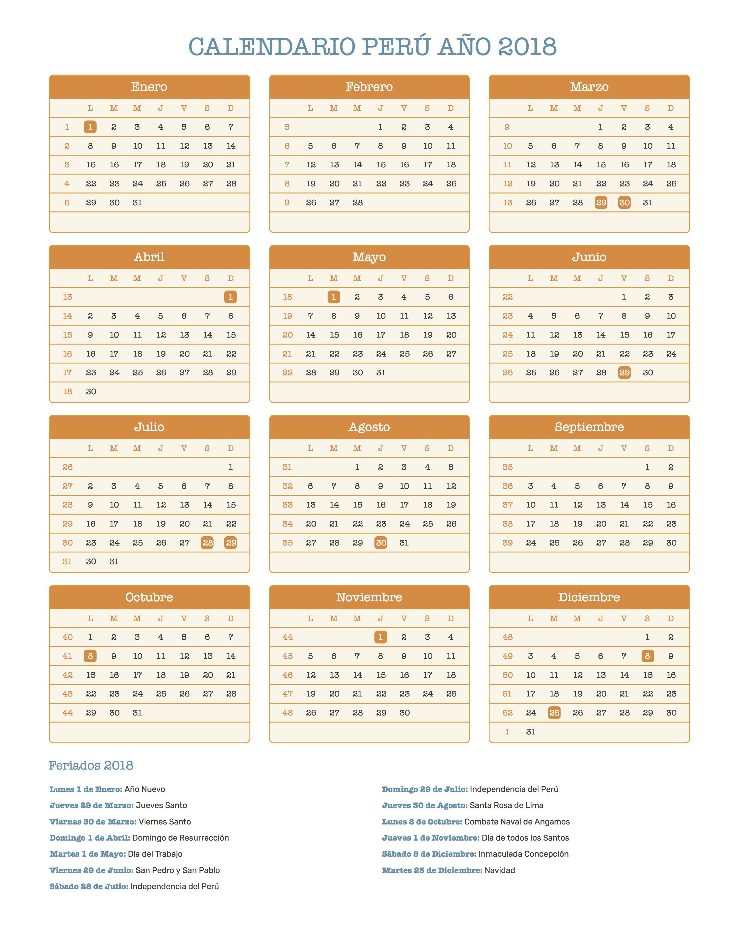 Calendario Julho 2019